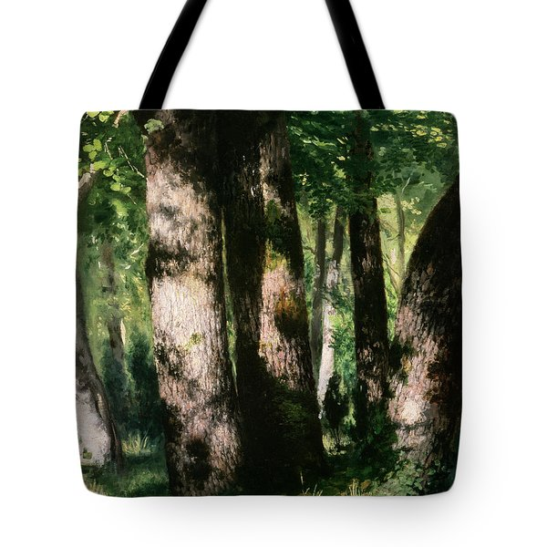 In The Forest Of Fontainebleau Tote Bag by Pierre Auguste Renoir
