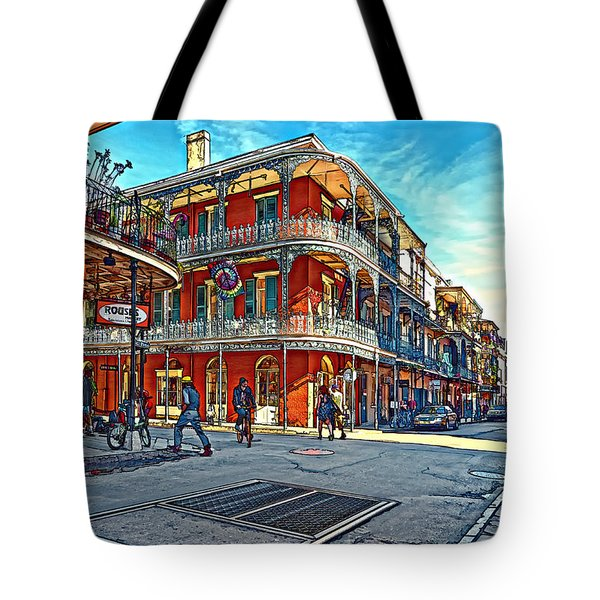In The French Quarter Painted Tote Bag by Steve Harrington