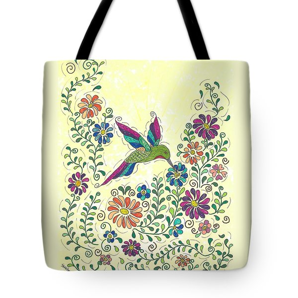 In The Garden - Hummer Tote Bag by Susie WEBER