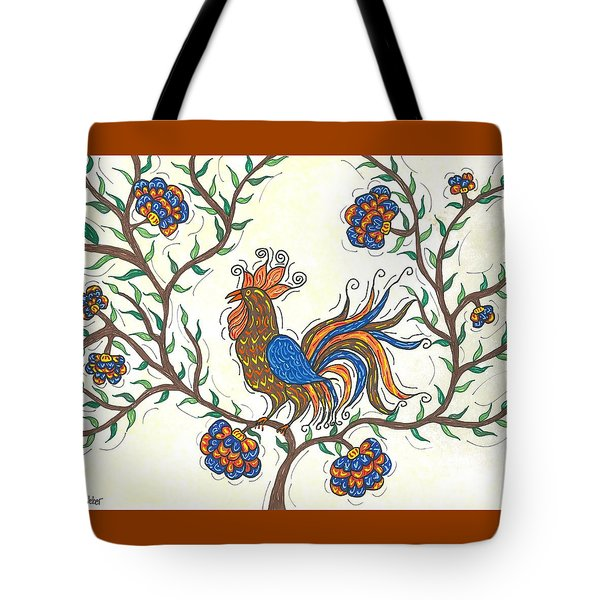 In The Garden - Barnyard Style Tote Bag by Susie WEBER