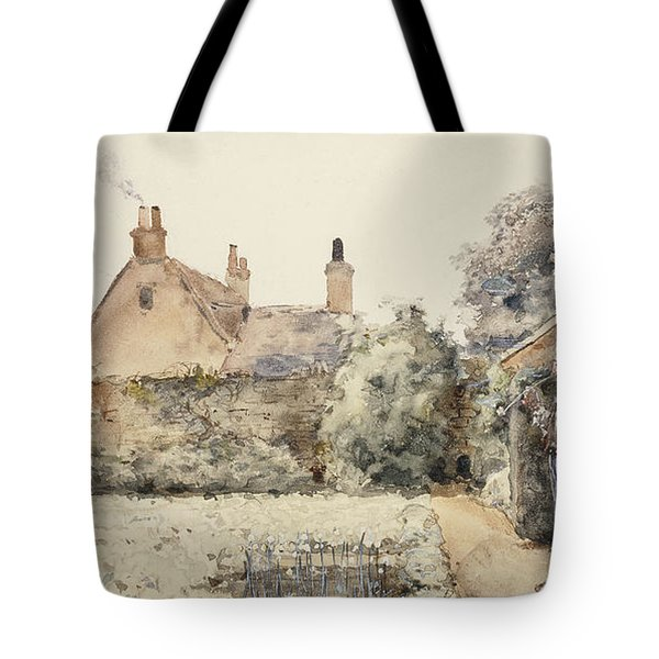 In The Garden Tote Bag by Childe Hassam