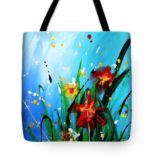 Tote Bag featuring the painting In The Garden by Kume Bryant