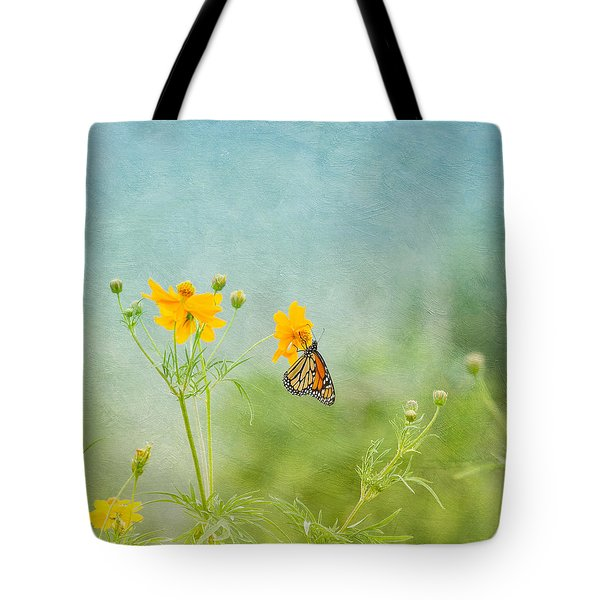 In The Garden - Monarch Butterfly Tote Bag by Kim Hojnacki
