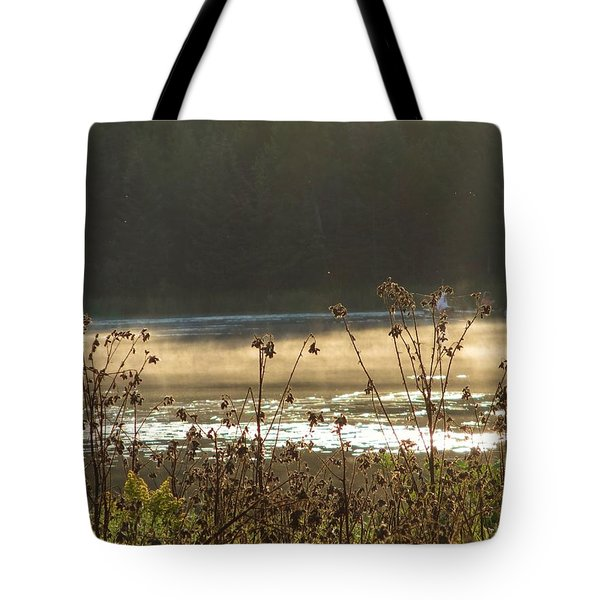 In The Golden Light Tote Bag by Mary Wolf