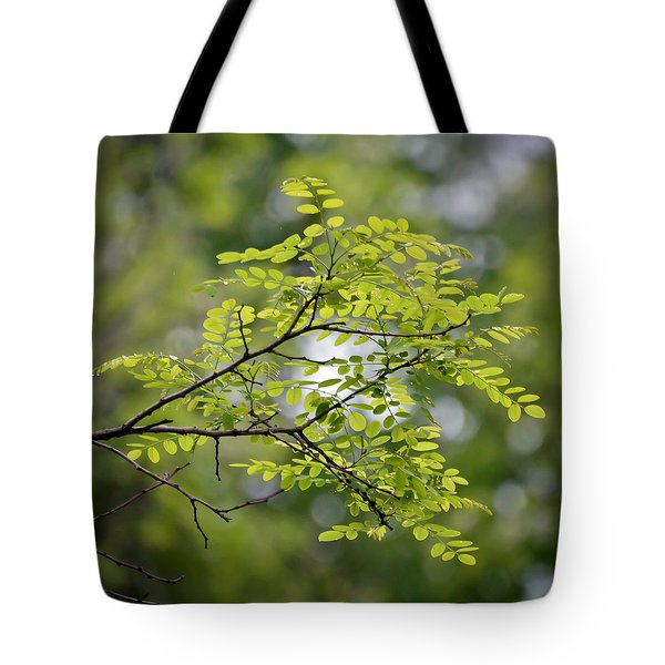 Tote Bag featuring the photograph In The Green by Kerri Farley