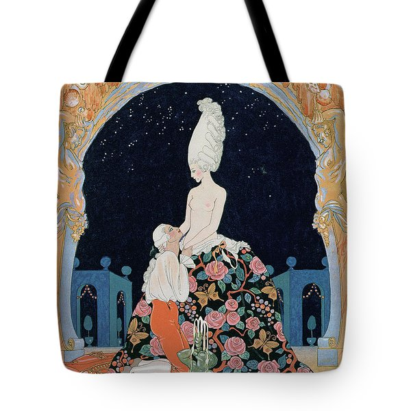 In The Grotto Tote Bag by Georges Barbier