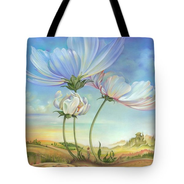 In The Half-shadow Of Wild Flowers Tote Bag