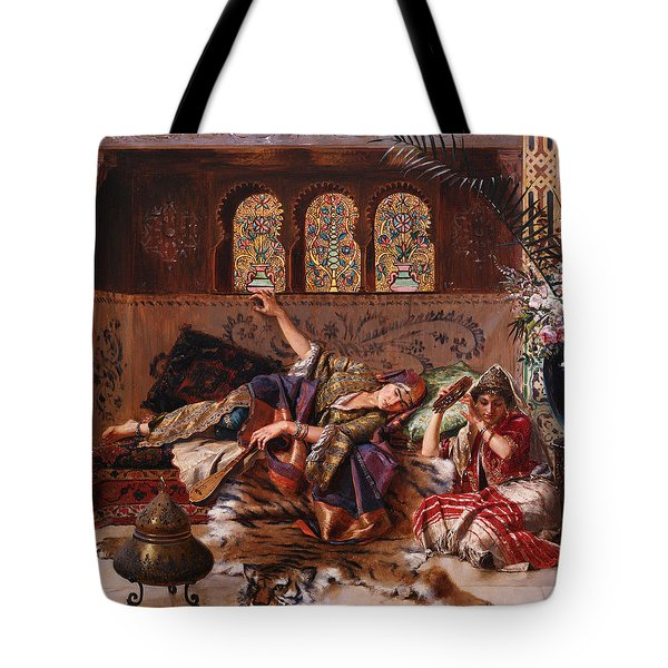 In The Harem Tote Bag by Rudolphe Ernst
