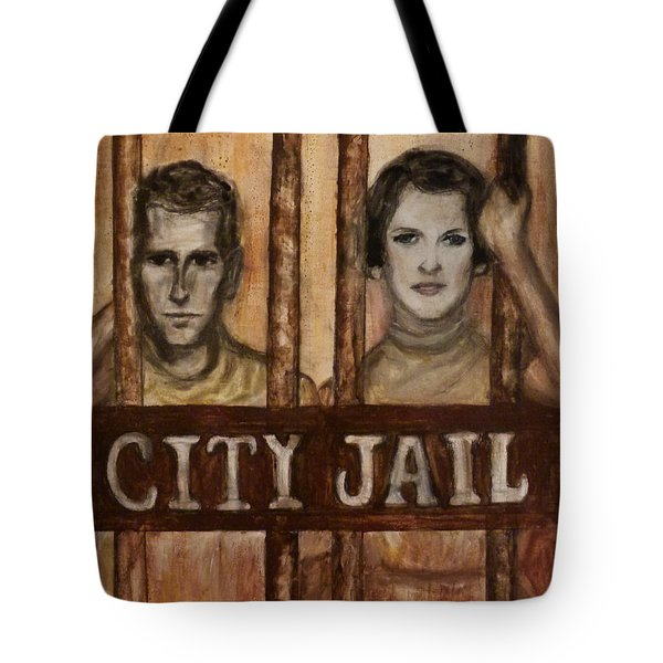 In The Jailhouse Now Tote Bag by Regina Brandt
