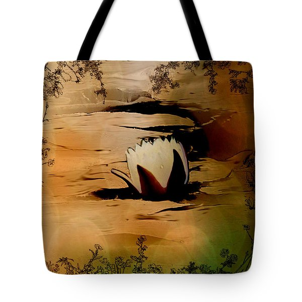 In The Lily Pond - Savannahwildliferefuge-featured In Nature Photography Tote Bag by EricaMaxine  Price