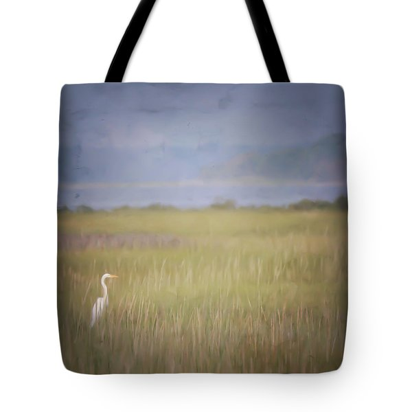 Tote Bag featuring the photograph In The Marsh  by Kerri Farley