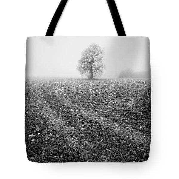 Tote Bag featuring the photograph In The Mist by Davorin Mance