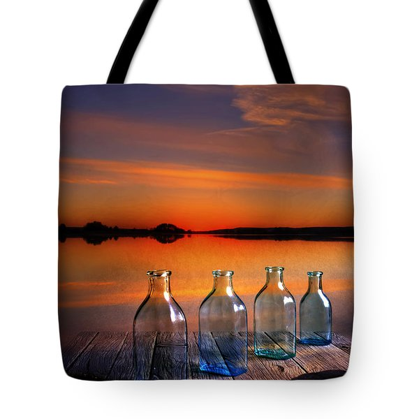 In The Morning At 4.33 Tote Bag