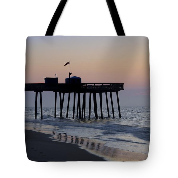 In The Morning On The Beach Ocean City Tote Bag by Bill Cannon