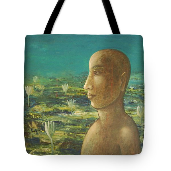 In The Realm Of Buddha Tote Bag by Mini Arora