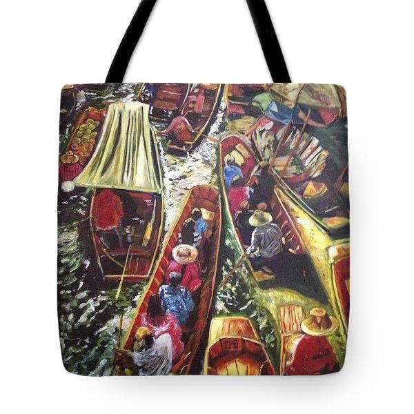In The Same Boat Tote Bag by Belinda Low