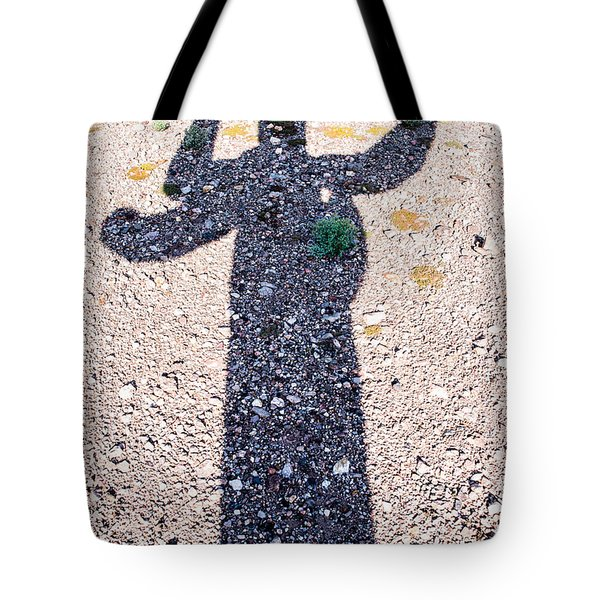 In The Shadow Of A Saguaro Cactus Tote Bag