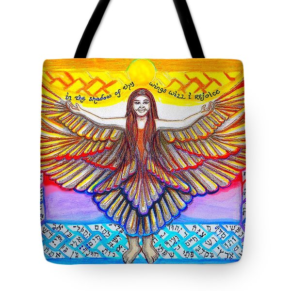 In The Shadow Of Thy Wings Psalms Tote Bag