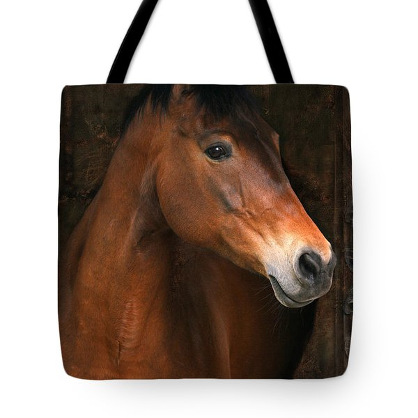 In The Stable Tote Bag by Angel  Tarantella