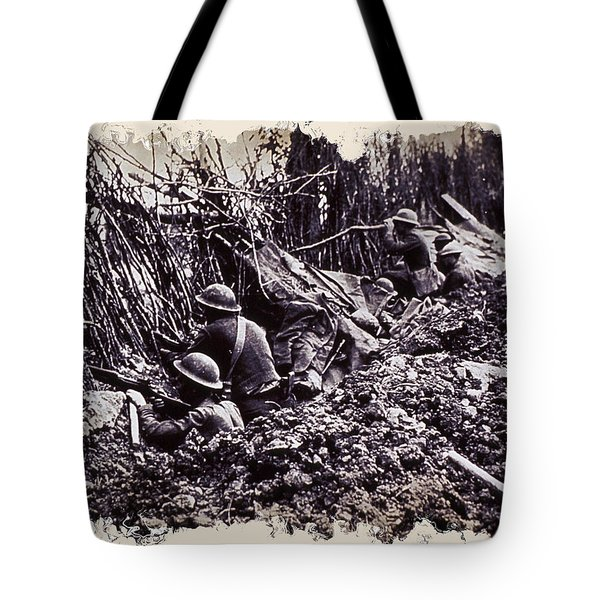 In The Trenches Tote Bag by Daniel Hagerman
