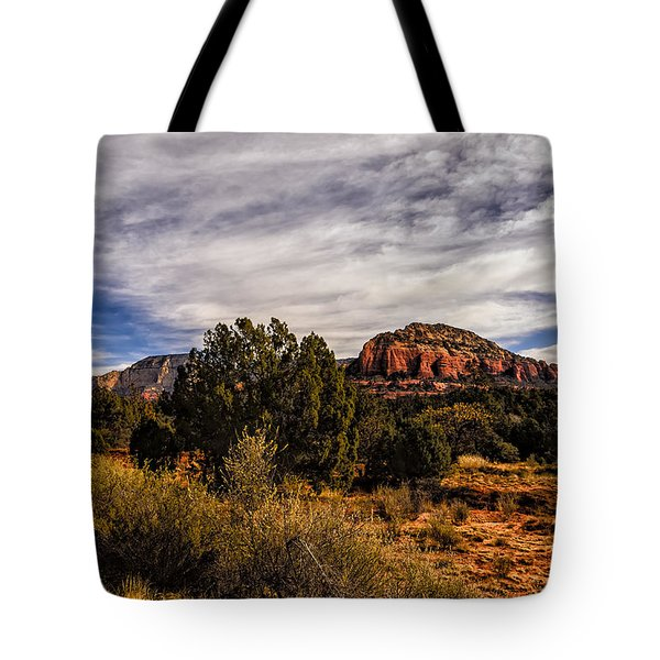 Tote Bag featuring the photograph In The Valley Below by Mark Myhaver