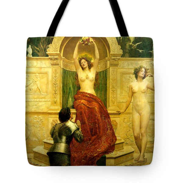 In The Venusberg Tannhauser Tote Bag by John Collier