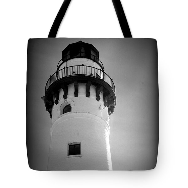 In The Village Of Wind Point Tote Bag by Kay Novy