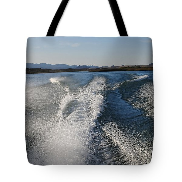 In The Wake Of Lake Havasu Az  Tote Bag