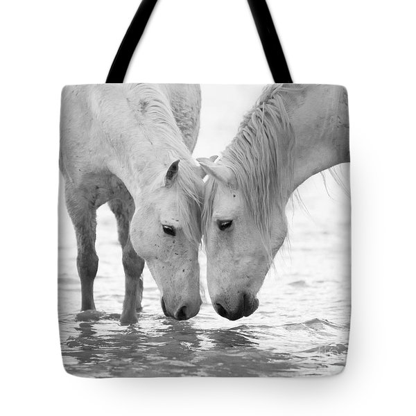 In The Water At Dawn II Tote Bag by Carol Walker