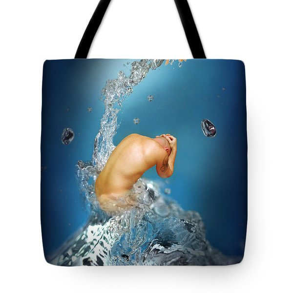 In The Water Tote Bag by Mark Ashkenazi
