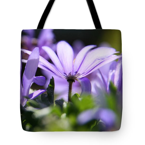 Floral Purple Light  Tote Bag
