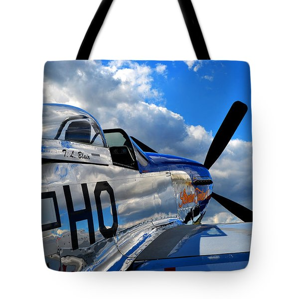 In To The Wild Blue Tote Bag