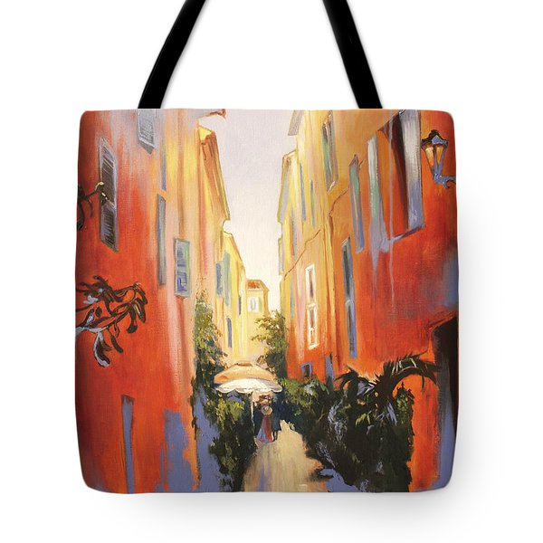 In Town Of Saint Tropez Tote Bag