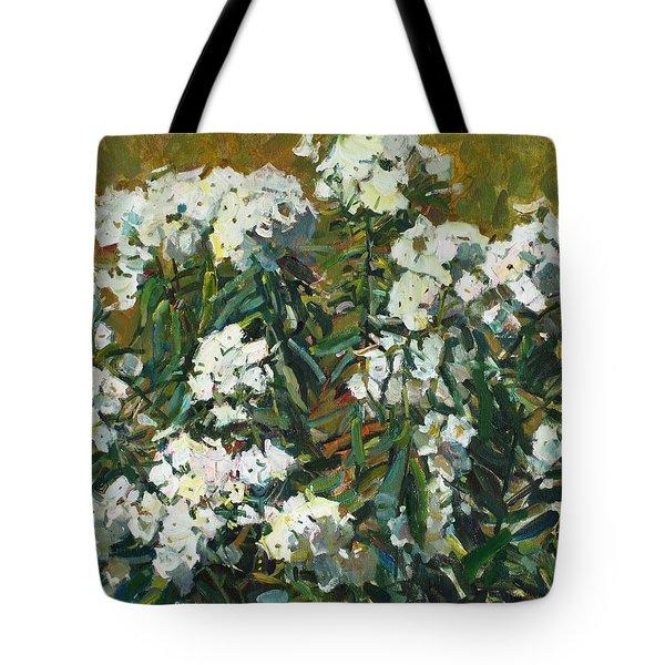 In White Dress Tote Bag