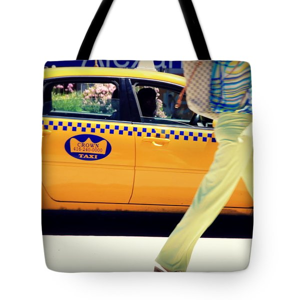 In Yellow Tote Bag by Valentino Visentini