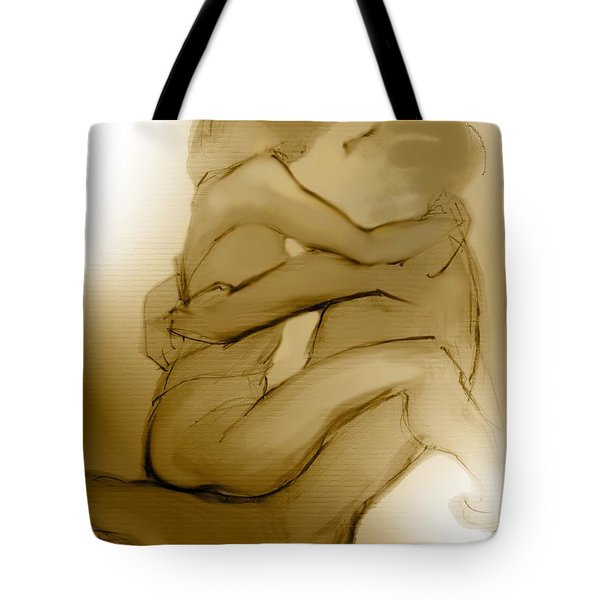 In Your Arms In Your Heart Tote Bag by Carolyn Weltman