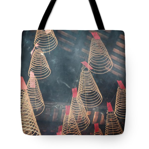 Tote Bag featuring the photograph Incense Coils by Lucinda Walter