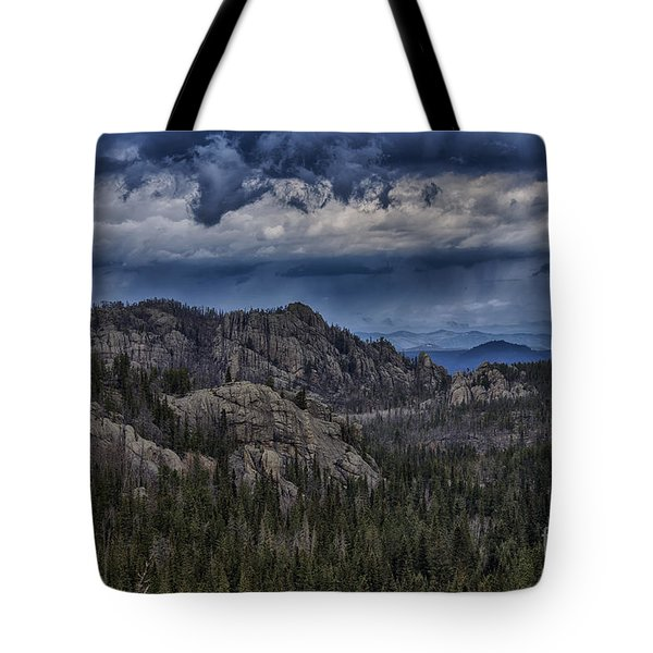 Incoming Storm Over The Black Hills Of South Dakota Tote Bag
