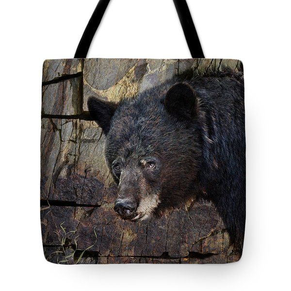 Inconspicuous Bear Tote Bag by Ed Hall