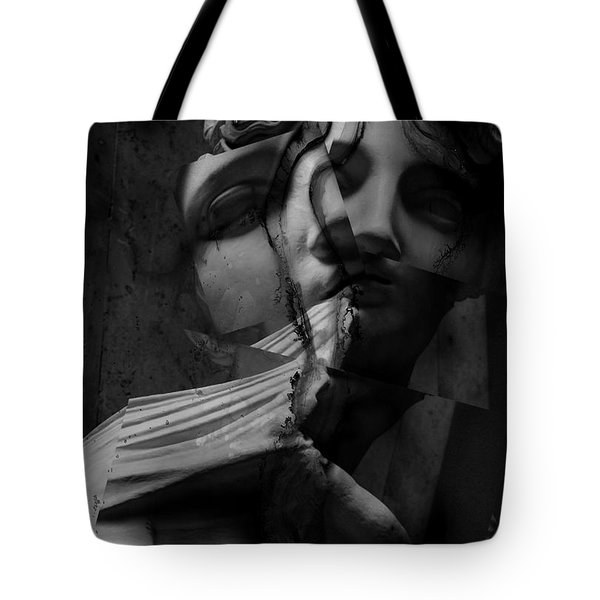Indecisive Cracks Tote Bag by Empty Wall