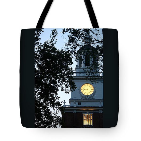 Independence Hall At Dusk Tote Bag by Christopher Woods