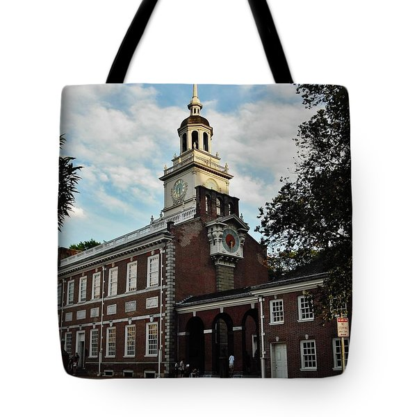 Independence Hall Tote Bag by Ed Sweeney