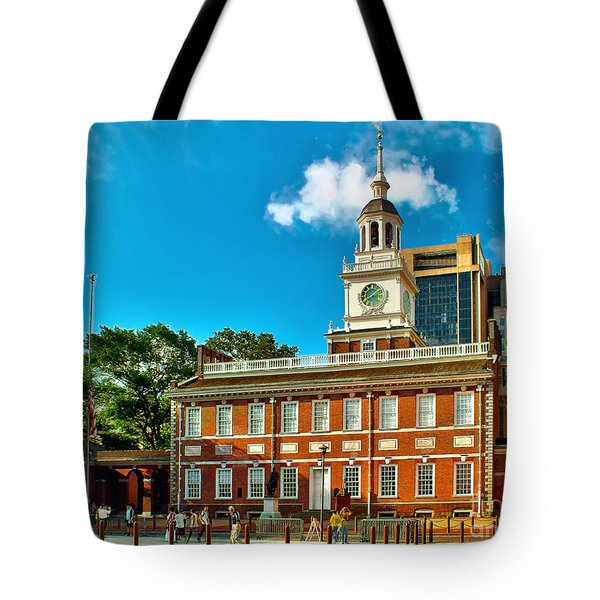 Independence Hall Tote Bag by Nick Zelinsky