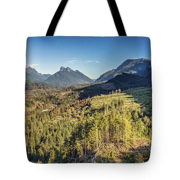 Index Mountains Panorama Tote Bag