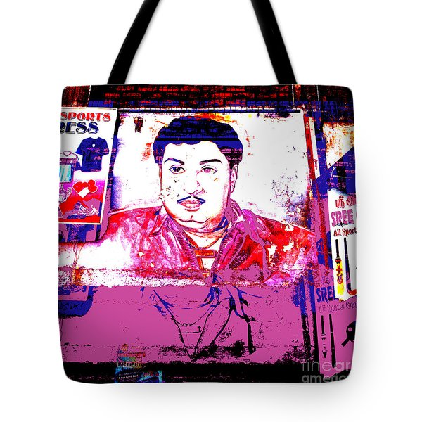 India Dress Maker Billboard  Tote Bag by Jean luc Comperat