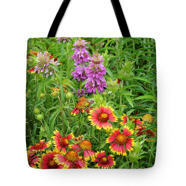 Indian Blankets And Lemon Horsemint Tote Bag by Lynn Bauer