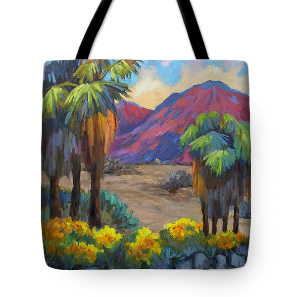 Indian Canyon In Spring Tote Bag