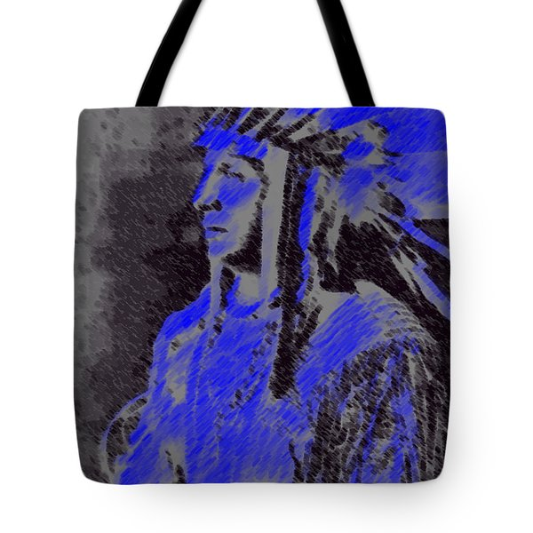 Indian Chief Tote Bag by George Pedro