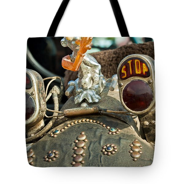 Indian Chopper Taillight Tote Bag by Jill Reger