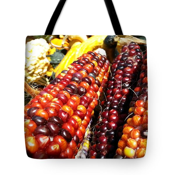 Tote Bag featuring the photograph Indian Corn by Caryl J Bohn